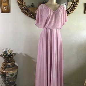 Vintage Blush Pink Satin Dress